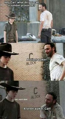 The Walking Dead Rick Carl Grimes Andrew Lincoln LOL meme funny zombies