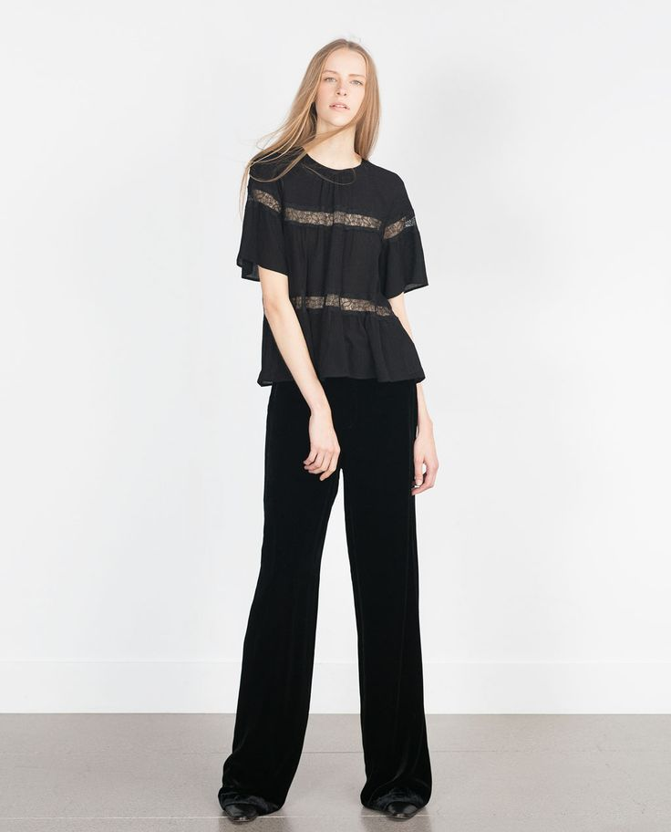 LACE COMBINED SHIRT-View all-Tops-WOMAN | ZARA Canada
