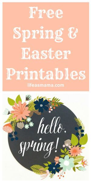 Since you'll be decorating for Easter and Spring any day now (or maybe you already have) you're going to need some cute printables to put up in your home. It doesn't get much better than free when it comes to holiday and home decor, right? So check out th