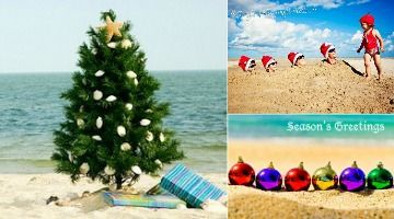 You love the beach. So how about sending out your seasonal wishes with a Christmas beach photo card? These crazy cute Christmas photos taken on the beach are inspiring and will make you smile! Humorous family Christmas beach photos, still lives of mini trees, ornaments, Santa caps, fabulous sand drawings and more. The sky is …