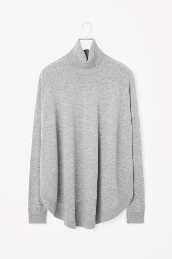 COS image 2 of Circle-hem jumper in Light Grey