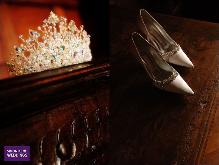 Clare's shoes and (sparkly) tiara