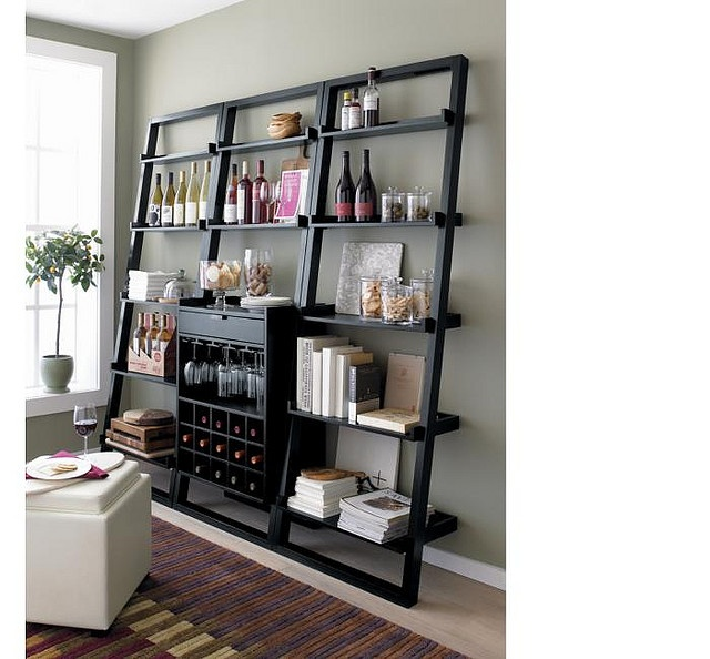 Sloane leaning wine bar bookcase set mueble bar dise o for Muebles bar diseno
