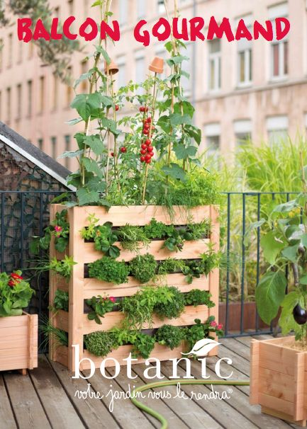 10 best un jardin bio sur mon balcon images on pinterest balconies potager garden and decks. Black Bedroom Furniture Sets. Home Design Ideas