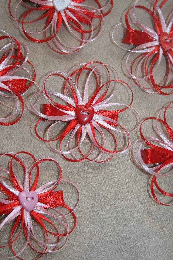Valentine's Day Pretty Flower Hair Clip @Crystal Green
