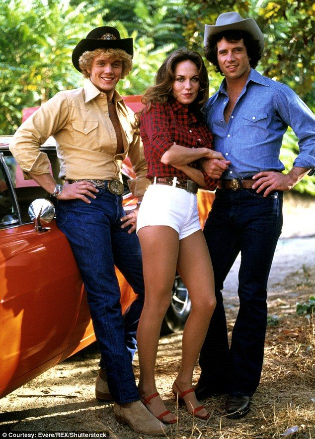 The original trio: The 55-year-old played Bo Duke in the original series - which ran from 1979-1985 - alongside Catherine as Daisy and Tom Wopat as Luke Duke (pictured, L to R: John, Catherine, and Tom in 1979)