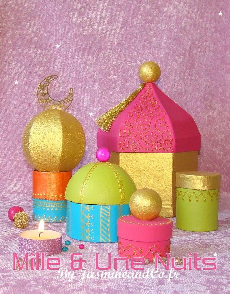 Ramadan calendar, Eid craft, muslim, jasmine, agrabah, 1001 nights, diy : http://blog.jasmineandco.fr/diy-palais-oriental-1001-nuits/