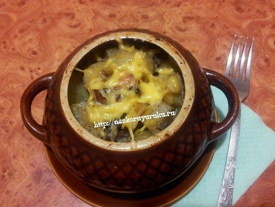 Жаркое в горшочках с курицей и картошкой в духовке, рецепт с фото