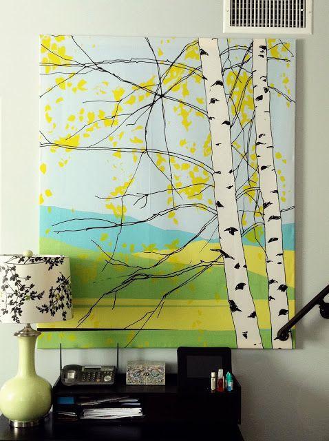 Bridewell Blog ❤ formerly Wedding Day Tree: Newlywed DIY Project: Marimekko Wall Hanging