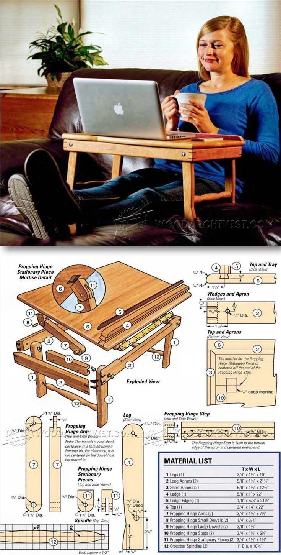 Laptop Desk Plans - Furniture Plans and Projects   WoodArchivist.com