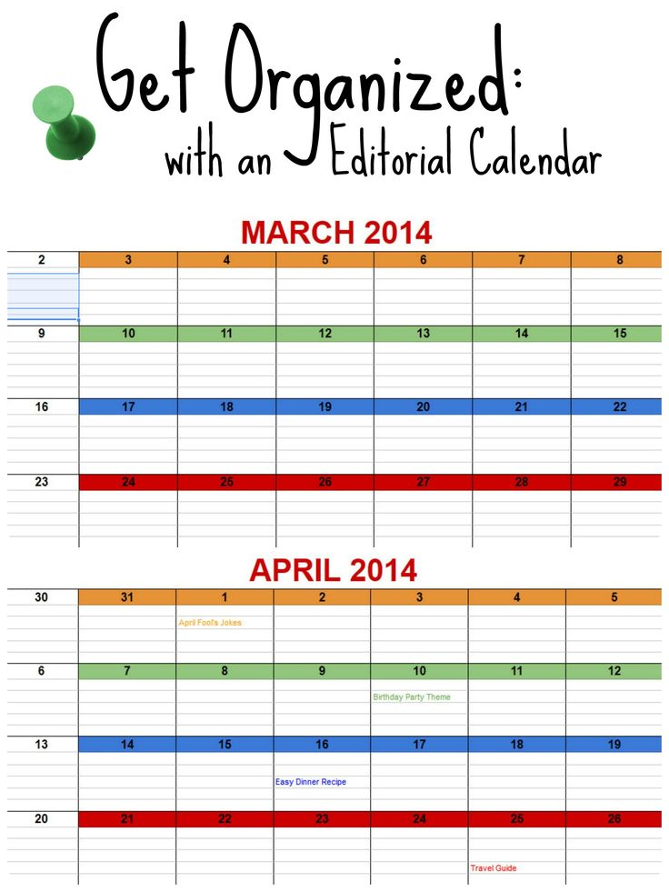 Best Editorial Calendar Images On   Tips Calendar