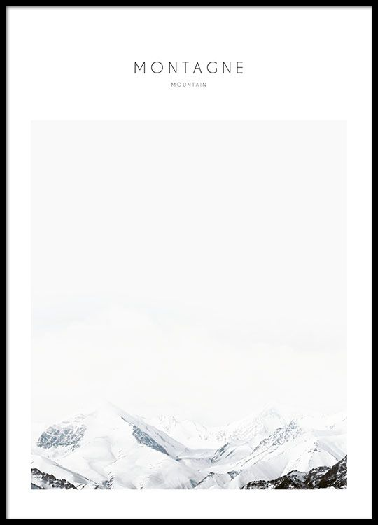 Poster with a nature motif, mountain