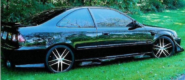 1998 Honda Civic EX Coupe black