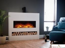 Flamerite Gotham 900 Floor Standing Electric Fire Suite can now be purchased from Fires2u! This stunning electric fireplace suite is shown in the images with the Ivory cream finish unit