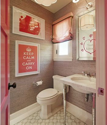 Unique And Different Teenage Girls Bathroom, Pretty In Pink :)