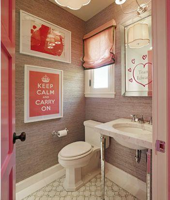 unique and different teenage girls bathroom pretty in pink - Girls Bathroom Design