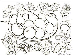 Znalezione obrazy dla zapytania jesienny kosz kolorowanka