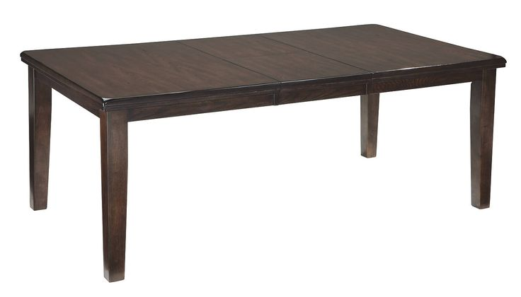 Haddigan dark wood extendable dining table