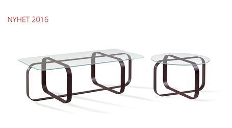 Cross bord, metallunderrede och glasskiva