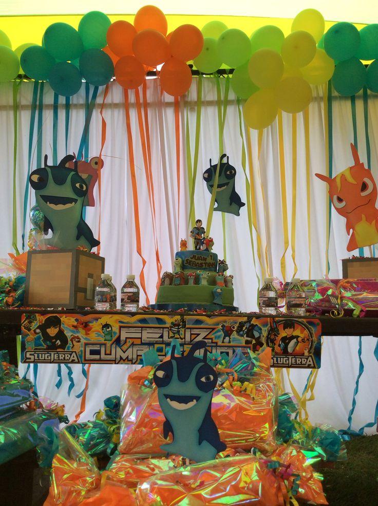 Slugterra Bajoterra party cake