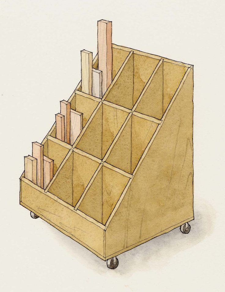 Rolling Lumber Storage Cart - WoodWorking Projects & Plans
