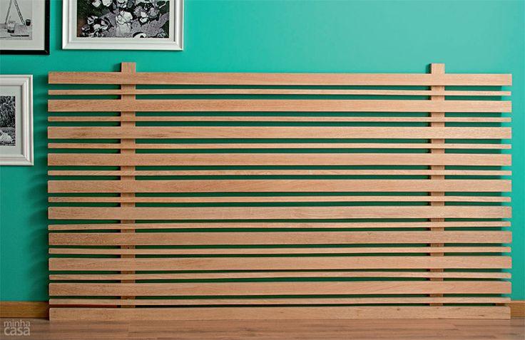 Aprenda a fazer uma cabeceira de ripas de madeira | CASA.COM.BR