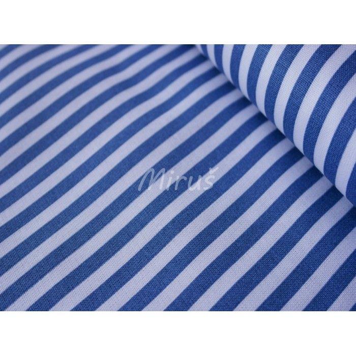 č.2458 Pruh modrý na bílé