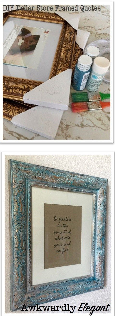 DIY Dollar Store Frames - full tutorial on how to turn dollar store frames into beautiful framed quotes for some added inspiration in your home.