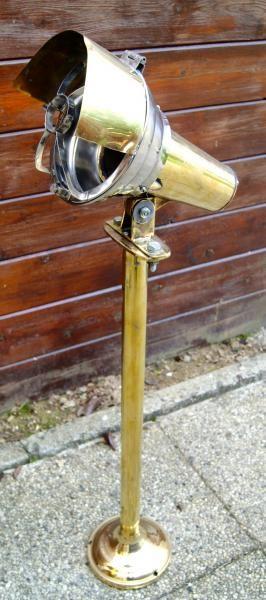 Projecteur Spot sur pied LISEUSE de pont en laiton