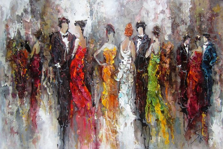 Cocktail and dresses par Skoko, artiste présentement exposée aux Galeries Beauchamp. www.galeriebeauchamp.com