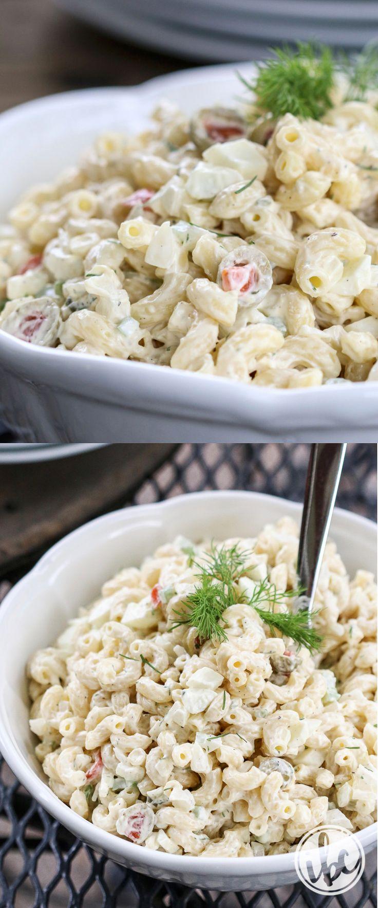Really Good Macaroni Salad - summer salad recipe - macaroni side dish recipe, the best macaroni salad recipe, summer appetizer