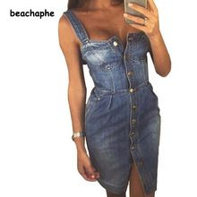 Сексуальная спинки 2017 платье из джинсовой ткани женские винтажные облегающее летнее платье для пляжной вечеринки Короткие Платья повседне...(China (Mainland))