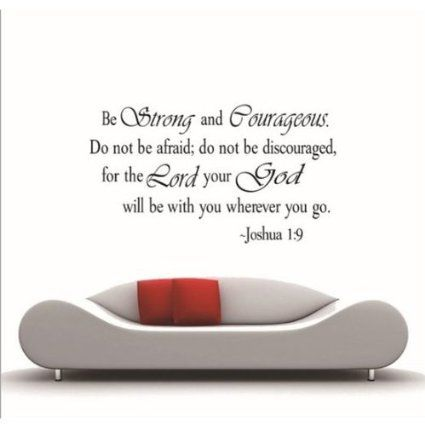 MZY LLC (TM) Be Strong and Courageous Vinyl Art quotes Joshua 1:9 religious wall stickers Decal Home Decor