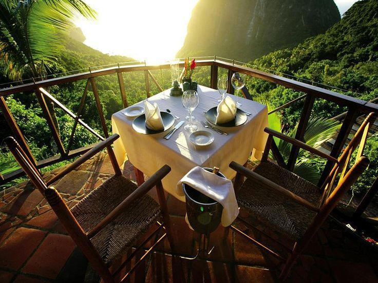 Dinner at Ladera Resort, St. Lucia /// #hotel #wanderlust #travel #food