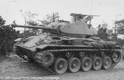 Danish M24 Chaffee. The USA sent 67 of these tanks to Denmark between 1953-57