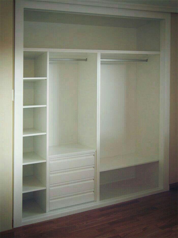 Dise o de hogar armarios roperos pinterest - Armarios para habitaciones pequenas ...