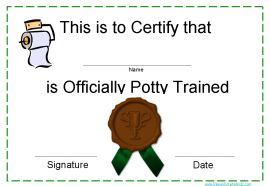 congratulate child on potty training - check it out!!!