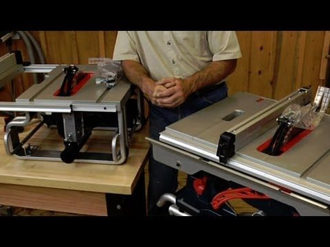 Without question, the table saw is the heart of any woodworking shop. Unfortunately, they can take up a lot of valuable space. Space most woodworkers don't have. George Vondriska discusses the advantages of using a portable or bench top table saw and the features you should look for when buying your next table saw.