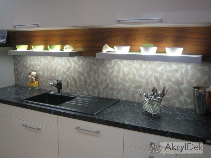 kitchen wall decoration instead of kitchen tiles, pattern of brown - klebefolien küche spritzschutz