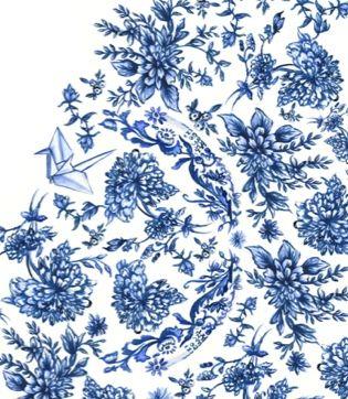 Watercolour print by Lollilu for Ben Sherman Aus womenswear