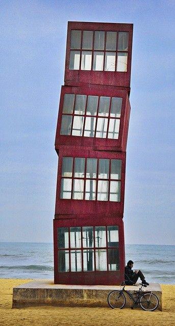 Barcelona Beach Tower - Rebecca Horn - Los cubos - L'Estel Ferit - La Estrella Herida
