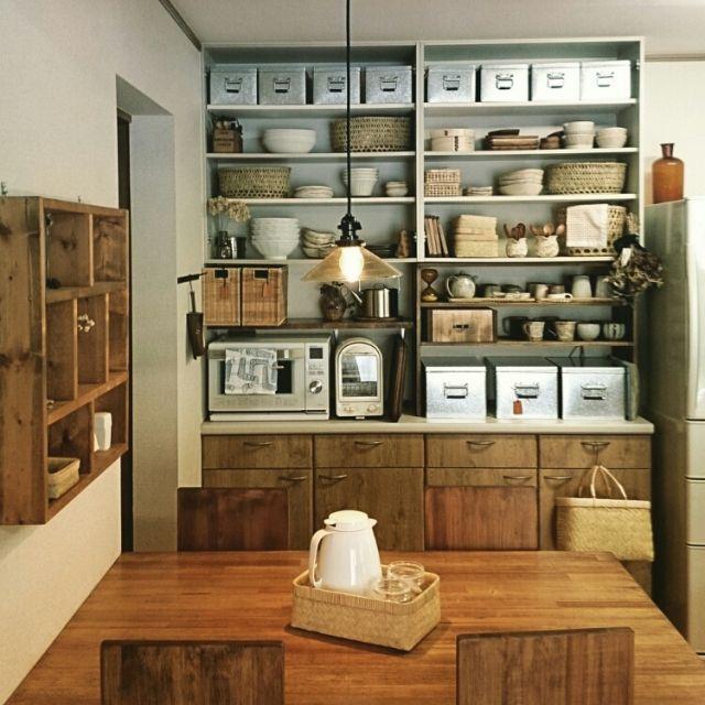 DIY/工房アイザワ/無印良品/おひつ/食器棚/和食器…