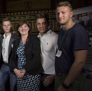 WATCH: Nicky Morgan presents PinkNews Award to the naked rowers, Warwick team. Buy the calendar, they have men and women teams and they stand up to fight bullying.