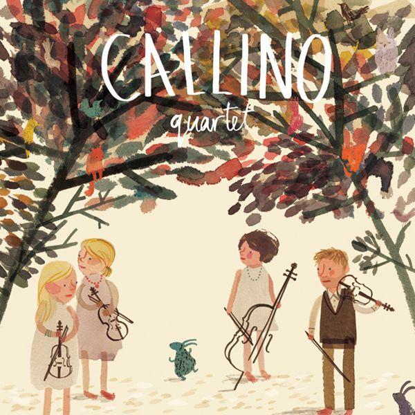 Callino Quartet album cover by Yasmeen Ismail, via Behance