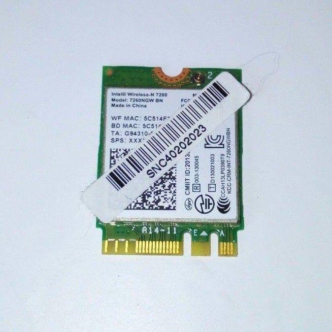 MEDION AKOYA S6212T INTEL WIRELESS-N 7260 WIFI CARD CARTE RESEAU 7260NGW BN #479