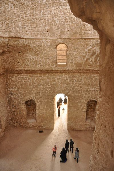 Sasanian (Palace at Firuzabad) - Central room, from the gallery,Ardashir I's Palace at Firuzabad, 3rd century AD