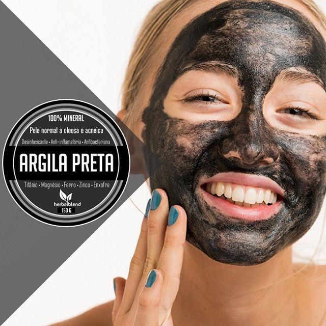 Argila 100 Mineral Herbal Blend A Argila Preta Herbal Blend