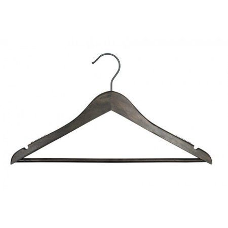 Wooden Suit Hangers - Nahanco Line - 17 inch Low Gloss Espresso - Home Use