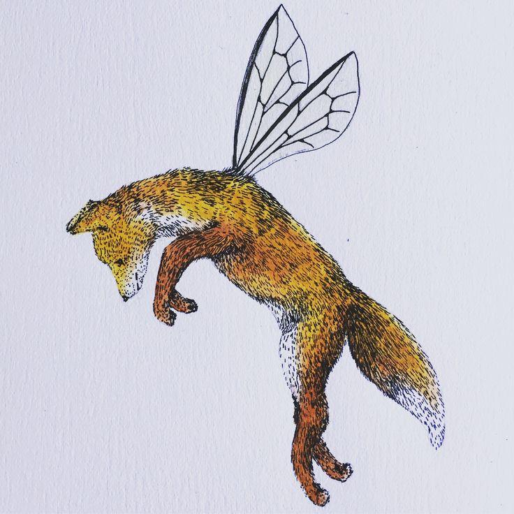 Red fox  #fox #animal #wildlife #art #illustration