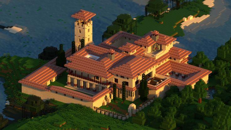 minecraft-villa-render